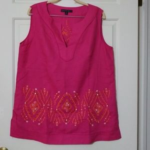 LAFAYETTE 148 Sequin Embroidered Tunic